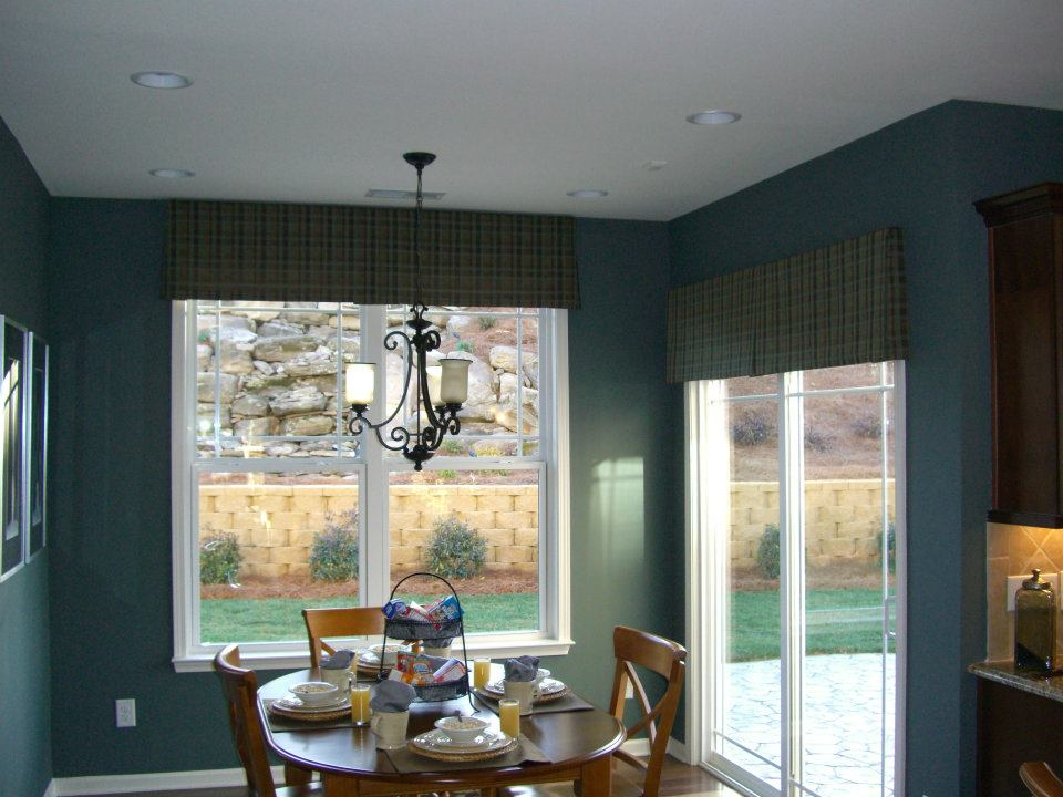 custom window draperies in home in charlotte, nc